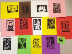 (LIB) Beginning Rubber-cut Printmaking with Margo Rivera-Weiss