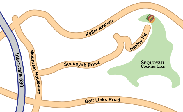 Map to Sequoyah Country Club